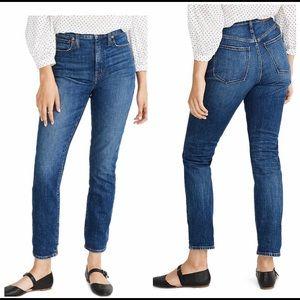 Madewell High rise slim boy jeans.